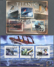 The Titanic 5 different min sheets stamps collection