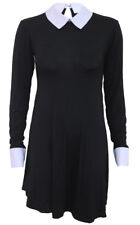 SPIRAL DIRECT GOTHIC ROCK PeterPan Collar Baby Doll L/S Dress/Darkwear/Goth/Top