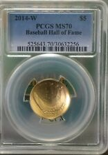 2014-W $5 Uncirculated gold Baseball Hall of Fame PCGS MS70 with OGP!