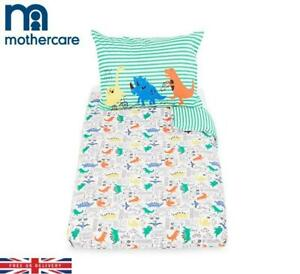 Mothercare Dino-City Duvet Cover & Pillowcase For Cot & Toddler Bed