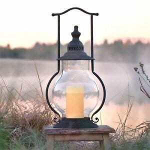 Realdo Outdoor Christmas Candle Lantern with LED Light Christmas Decorative LED Tea Light Tabletop Home Hanging Lanterns