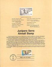 #8541 44c Fr. Junipero Serra Air Mail - Scott #C116 USPS Souvenir Page
