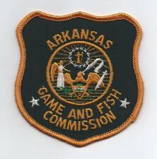 Arkansas Game & Fish Commission Uniform Shield Patch, Plastic Back