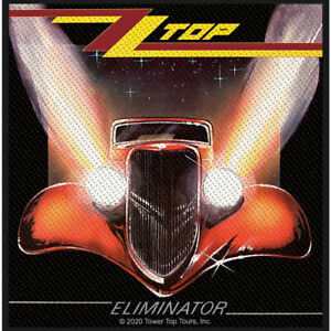 """ZZ TOP - """"ELIMINATOR"""" - WOVEN SEW ON PATCH - OFFICIAL ITEM"""