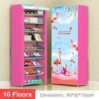 10 floors Shoe Rack Wall Shelf Closet Organizer Storage Box Stand +