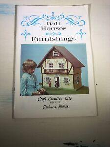 Vintage Doll Houses & Furnishings CATALOG Craft Creative Kits Vol 76 No.1 MCM