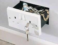 New Imitation Double Plug Socket Wall Safe Security Home Secret Hidden Stash Box