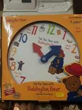 Paddington bear woodern tog clock rainbow designs