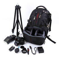 Rucksack Camera DSLR SLR Backpack Bag Case Fit For Nikon Sony Canon 31*49*15cm
