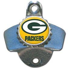 Green Bay Packers NFL Football Wall Mount Metal Pub Bar Bottle Opener - New