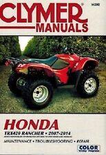 CLYMER REPAIR MANUAL HONDA RANCHER TRX420 2WD 2X4 TM TE 420TE 420TM 2007-2013