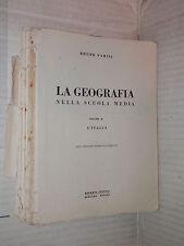 LA GEOGRAFIA L Italia Bruno Parisi Minerva Italica 1956 Volume Secondo scuola di