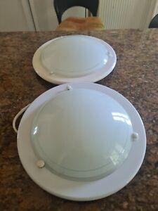 MiniSun Modern Design Frosted Glass Round Flush Bathroom Ceiling Light - White