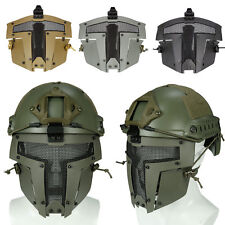 Sparta Paintball Airsoft Nylon Helmet Mask Full Face Metal Mesh Cover Guard