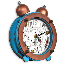Steampunk table clock Ganges HANDCRAFTED Shabby chic interior design WOODANDROOT