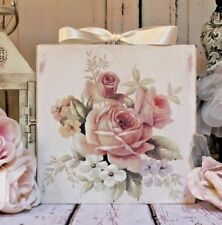 "~ Shabby Chic ~ Vintage ~ Country Cottage style ~ Wall Decor Sign ~ ""Roses..."" ~"