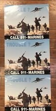 3 USMC Poster, CALL911 MARINES Posters, I signed by General Chuck Krulak, CMC