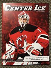 New Jersey Devils Center Ice Program 2012-13 Johan Hedberg 4/25/2013