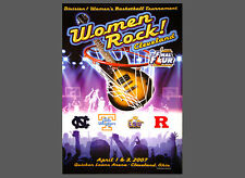 Rare NCAA WOMEN'S BASKETBALL FINAL FOUR 2007 Cleveland Official Event POSTER