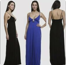 Women's Black Sexy Deep V Cut Maxi Dress (Size Large)