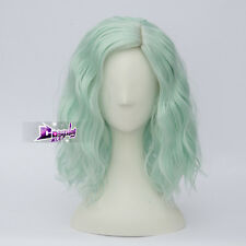 35cm Light Green Curly Hair Lolita Heat Resistant Harajuku Anime Cosplay Wig