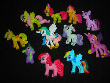 "MY LITTLE PONY LOT OF 11 1"" TOY FIGURE CAKE TOPPERS"