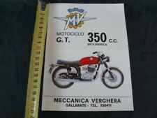 PUBBLICITA' MOTO MV AGUSTA 350 GT BICILINDRICA old vintage ITALY