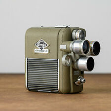 antike Filmkamera Eunig electric R Revolverobjektive Bereitschaftstasche 16mm2x8