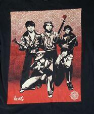Shepard Fairey Defiant Youth Obey Graphic T Shirt Mens Sz XL Black Cotton