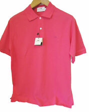 Authentic Mens Burberry Polo Shirt Dark Pink