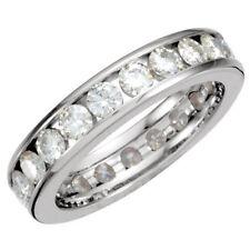 2.20ct Forever Classic Moissanite Eternity Band Ring 14k White Gold Size 8