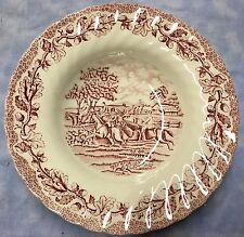 Fox Hunt Hunting Myotts Soup Bowl Redware Transfer