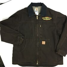 Carhartt Men's C61-DKB Sandstone Ridge SHERPA Lined Coat Brown WORK Jacket XL
