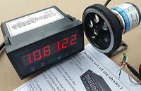 8 inch Length Wheel + Encoder + Support + Counter Grating 0.01''  Display Meter