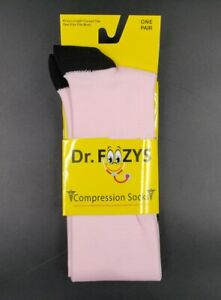 Graduated Light Pink COMPRESSION SOCKS Sports Travel Knee High Socks DrFoozys OS