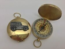 Land rover defender ref115 étain effet voiture emblème sur un golden compass