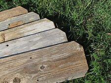 "Reclaimed Old Fence Wood Boards W Ears 10 Boards 12"" Weathered Barn Wood Planks"