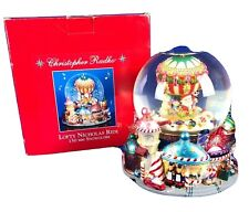 Christopher Radko Collection Lofty Nicholas Ride Musical Snowglobe Jingle Bells