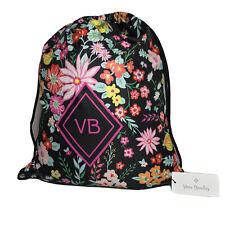 Vera Bradley Drawstring Backsack Backpack In Tangerine Twist
