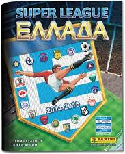 PANINI GREEK FOOTBALL 2014 2015 SUPERLEAGUE COMPLETE STICKERS SET ALBUM