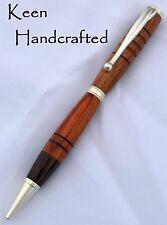 gl - Keen Handcrafted Handmade Segmented Satin Pearl Slimline Pen