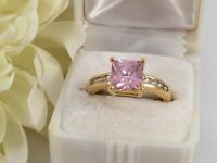 Vintage Jewellery Yellow Gold Ring with Pink and White Sapphires Antique Jewelry