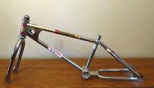 """1980 OLD SCHOOL BMX MONGOOSE MOTOMAG NICKEL FRAME FORK 20"""" TANGE STAMPED HEADSET"""