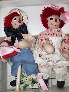Vintage Raggedy Ann And Andy sweet Valentine's Porcelain Face/Hands/Toes,NIB!