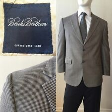BROOKS BROTHERS Wool & Silk Houndstooth Sport Coat Size 42R