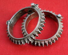 bracelet spiked belly dance jewelry cuf vintage antique tribal old silver bangle