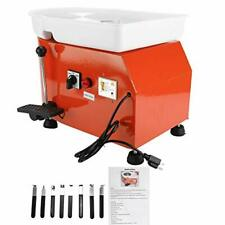 New 25Cm Electric Pottery Wheel Machine 350Wceramic Work Forming Carving(Orange)