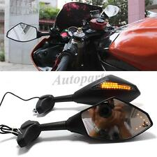 MOTORCYCLE LED INDICATOR SIDE MIRROR FOR 2001 2002 2003 SUZUKI GSXR 600 750 1000