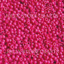 Dark Pink 7mm mini Pony Beads 1000pc made in USA for crafts school kids jewelry
