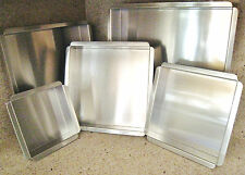 "Set of 5 Magic Line 2"" Deep Square Wedding Tier Cake Pans 6"" 8"" 10"" 12"" 14"" NEW"